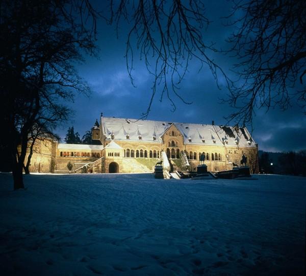 Die Kaiserpfalz Goslar im Winter