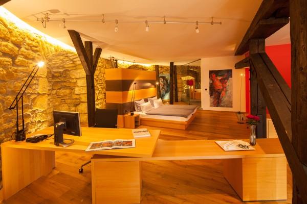 Schlaf- und Wohnbereich Kaisersuite